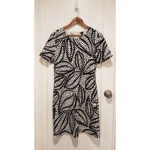 Ann Taylor Black and White Dress size 14 Like New